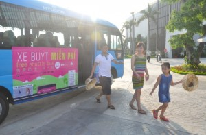 Free bus route in Bai Chay Tourism Area of Halong city - Vientam visa application from Singapore